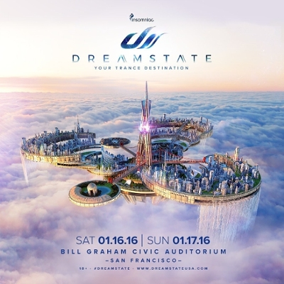 Insomniac's Dreamstate San Francisco Comes to Bill Graham Civic Auditorium January 16 & 17, 2016