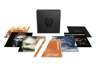 Rammstein marks their 21st anniversary with the December 4 release of the new 'XXI' vinyl box set. The 21st Anniversary collection - a numbered, career-spanning set - not only features the band's six studio albums, produced by Jacob Hellner and re-mastered onto 180-gram heavyweight double vinyl by Svante Forsbäck, it also comes complete with a separate rarities double LP, 'Raritäten,' including a previously unreleased version of the track 'Los.'