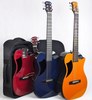 The Overhead Carbon Fiber Acoustic in Burgundy, Navy & Burnt Orange
