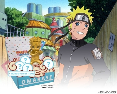 OMAKASE featuring Naruto Shippuden includes an exclusive gold Naruto Mininja.