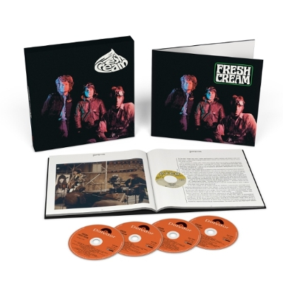 CREAM - FRESH CREAM (Deluxe Edition): January 27, 2017 sees the deluxe edition release of Fresh Cream, the debut album by British, blues boom, power trio, Cream. The 3-CD + 1 Blu-Ray Audio disc come housed in a gatefold sleeve within a rigid slipcase and includes a 64-page hardback book, featuring new sleeve notes by respected Rolling Stone writer, David Fricke. The set comprises various alternate and new stereo mixes plus several, previously unreleased BBC sessions.