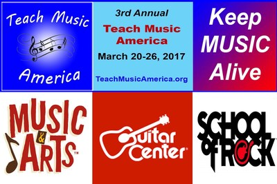 3rd Annual Teach Music America Week - March 20-26 - 600 Music Schools Offering Free Lessons to New Students