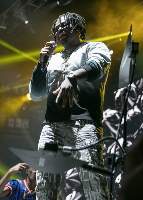 Detroit rapper Tee Grizzley performs during the Big Show at The Joe at Joe Louis Arena on December 28, 2016 in Detroit, Michigan.