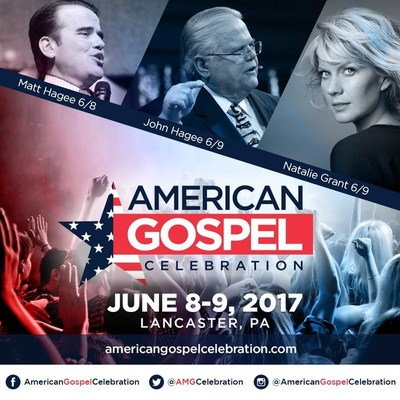 The American Gospel Celebration will take place June 8th and 9th in Lancaster. (PRNewsfoto/John Hagee Ministries)