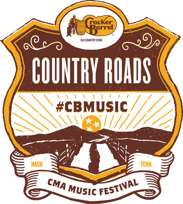 Cracker Barrel Old Country Store® will power the CMA Music Festival's Country Roads Stage at Nashville's Ascend Amphitheater beginning June 8 through June 10, 2017.
