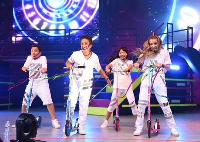 The KIDZ BOP Kids performing at KIDZ BOP's 'Best Time Ever' Tour At The Greek Theatre in Los Angeles, California. (Photo: Getty Images for KIDZ BOP)
