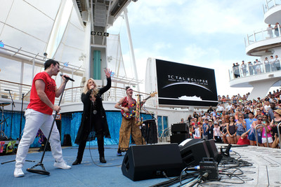 "Royal Caribbean's Oasis of the Seas was the only place on Earth to see legendary songstress Bonnie Tyler and multi-platinum selling band DNCE perform a never-before-heard duet of the iconic '80s power ballad, ""Total Eclipse of the Heart."""