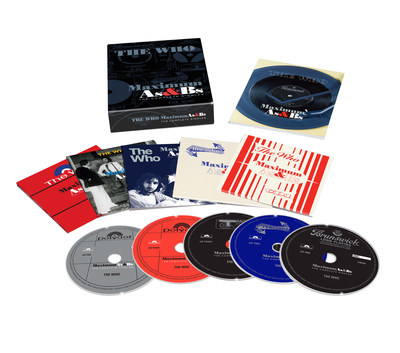 The Who - 'Maximum As & Bs' 5-CD box set of every A Side, B Side and EP to be released on October 27, 2017, on UMe/Polydor