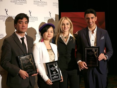 Credit, Noa Grayevsky - JCS International President Michal Grayevsky (second from right) with the 2017 Young Creatives Award Winners Roberto Pino Almeyda, Ewing Luo and Eisa Alhabib.