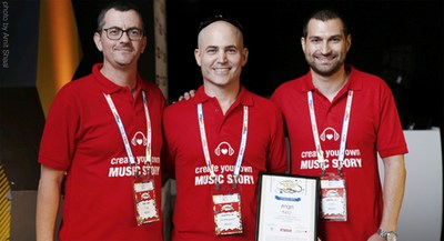 MUGO's founders after winning Israel's Most Promising Startup award