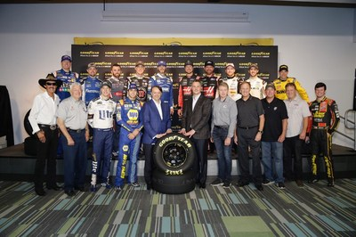 NASCAR Champions of the Past, Present and Future join Goodyear Chairman, CEO and President Rich Kramer and NASCAR President Brent Dewar to announce an extension of Goodyear's historic relationship with NASCAR.