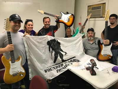 Veterans recently completed an electric guitar building class with the Wounded Warrior Project®.