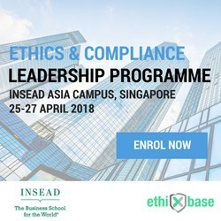 INSEAD, in partnership with ethiXbase, announced the launch of the Ethics & Compliance Leadership Programme for the Asia-Pacific Region.