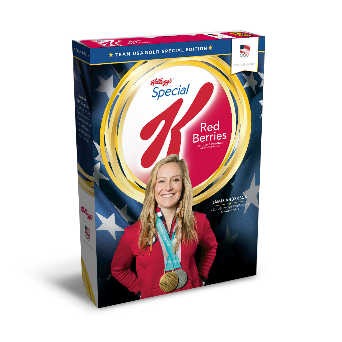 Jamie Anderson's Gold Medal Edition Kellogg's® Special K® Red Berries Box