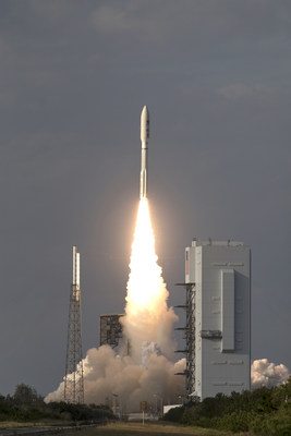 A United Launch Alliance Atlas V rocket lifts off from Space Launch Complex 41 at Cape Canaveral Air Force Station carrying the NOAA Geostationary Operational Environmental Satellite, or GOES-S. Liftoff was at 5:02 p.m. EST. GOES-S is the second satellite in a series of next-generation weather satellites. Credits: NASA/Kim Shiflett